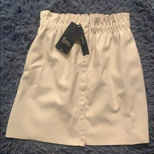 Zara leather white skirt
